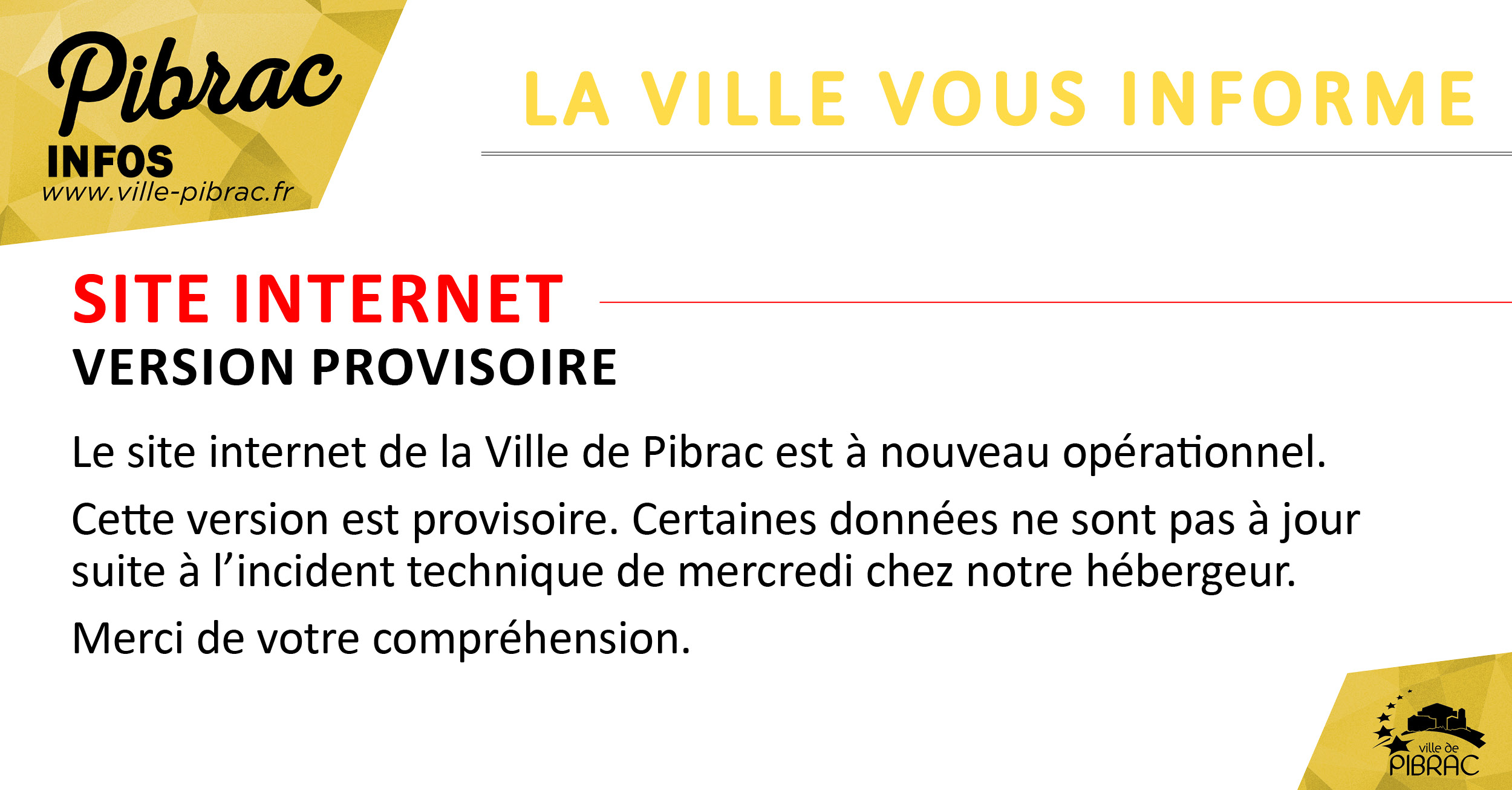 site internet version provisoire