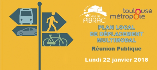 PLAN LOCAL DE DÉPLACEMENT MULTIMODAL : réunion publique